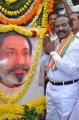 H Vasanthakumar Respect for Sivaji Statue Photos