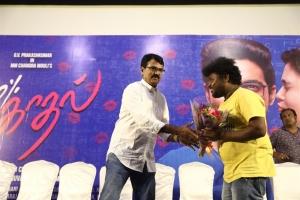 MM Chandramouli, Appukutty @ 100% Kaadhal Audio Launch Stills