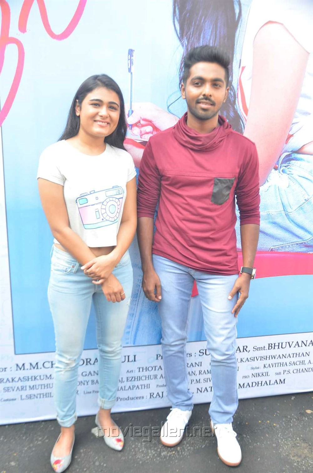 Shalini Pandey, GV Prakash @ 100% Kaadhal Movie Launch Stills