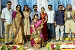 100 Percent Kaadhal Team Celebrated Pongal in the Sets Stills
