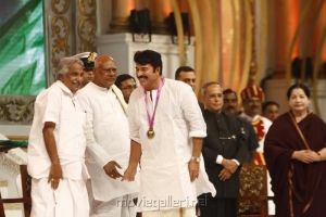 Oommen Chandy, Mammootty @ 100 Years of Indian Cinema Celebration Closing Ceremony Photos