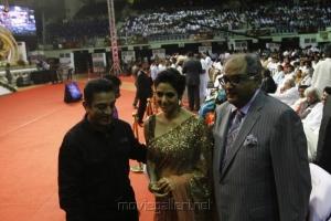 Kamal, Sridevi, Boney Kapoor @ 100 Years of Indian Cinema Celebration Closing Ceremony Photos