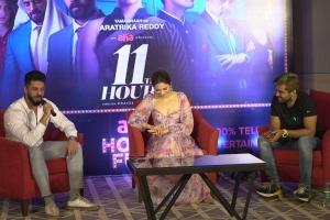 Anirudh Balaji, Tamannaah, Adith Arun @ 11th Hour Web Series Press Meet Stills