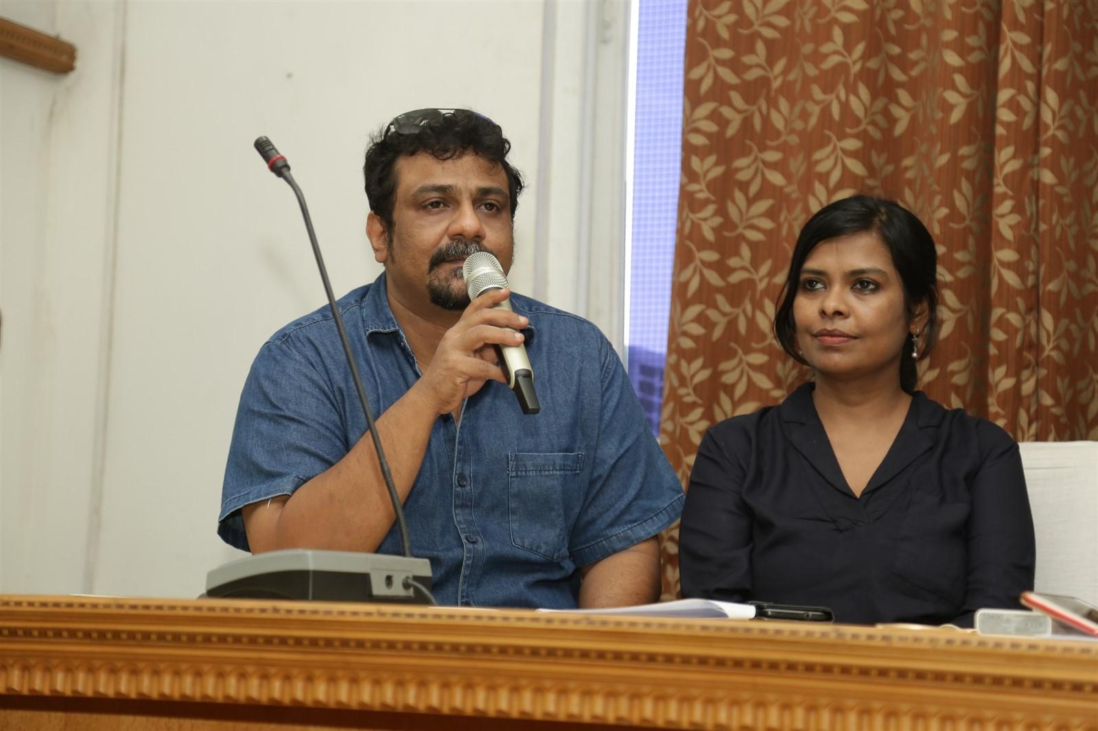 Gayathri, Pushkar @ 16th Chennai International Film Festival Press Meet Stills