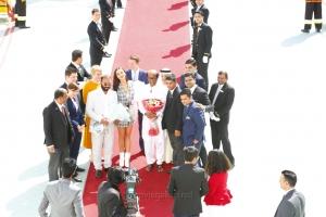 Amy Jackson, AR Rahman, Shankar, Rajinikanth, Subaskaran Allirajah, Akshay Kumar @ Subaskaran Allirajah, Amy Jackson, Rajinikanth @ 2.0 Press Meet Dubai Photos