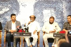 Shankar, Rajinikanth, Subaskaran Allirajah @ 2.0 Press Meet Dubai Photos