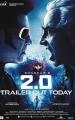Rajinikanth Akshay Kumar 2.0 Trailer Out Today Poster