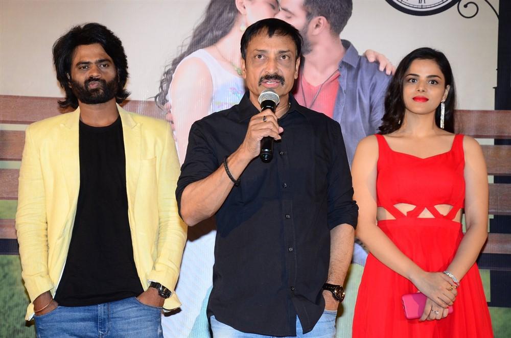 Sri Pawar, Raj Kandukuri, Krithi Garg @ 2 Hours Love Movie Press Meet Stills