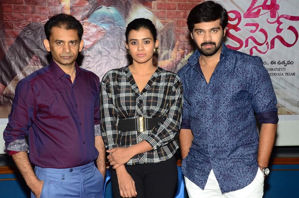 Ayodhya Kumar Krishnamsetty, Hebah Patel, Adith Arun @ 24 Kisses Movie Team Meet Photos