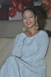 Aditi Myakal @ 24 Kisses Pre Release Function Stills