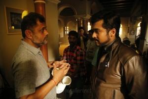 Cinematographer Tirru, Suriya @ 24 Movie Shooting Spot Stills