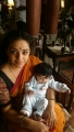Actress Nithya Menon with baby @ 24 Movie Shooting Spot Images