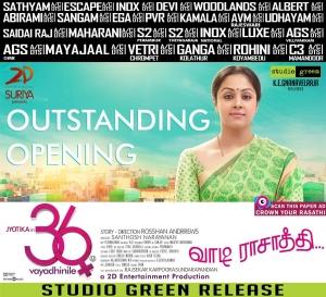 Actress Jyothika's 36 Vayadhinile Movie Walpapers