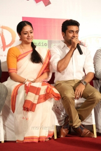 Jyothika, Suriya @ 36 Vayathinile Movie Success Meet Photos