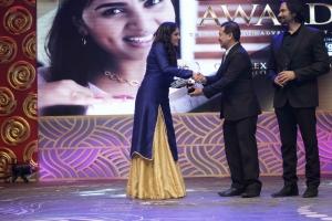 Srushti Dange for GRT gold flexi plans @ 3rd Annual TEA Awards 2016 Photos