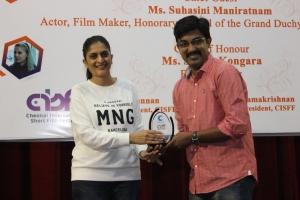 Sudha Kongara @ 3rd Chennai International Short Film Festival Closing Ceremony Stills