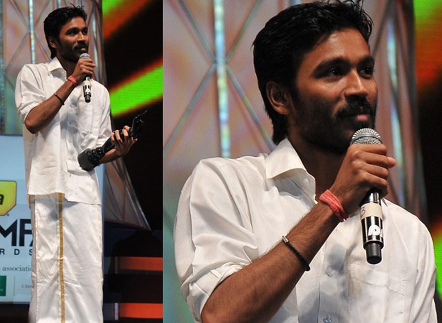 Actor Dhanush at 59th South Indian Filmfare Awards Stills