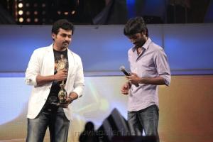 Karthik Sivakumar, Dhanush @ 5th Annual Vijay Awards 2011 Event Stills Photos