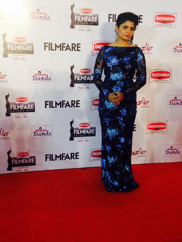 Chinmayi @ 62nd Filmfare Awards South 2015 Images