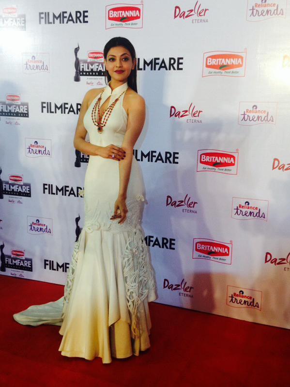 Kajal Agarwal @ 62nd Filmfare Awards South 2015 Images