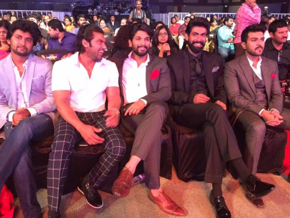 Nani, Arya, Allu Arjun, Rana, Ram Charan @ 63rd Britannia Filmfare Awards South 2016 Stills