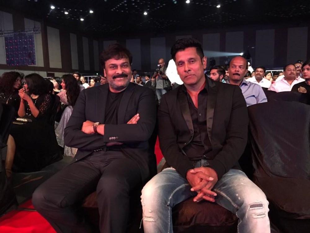 Chiranjeevi, Vikram @ 63rd Britannia Filmfare Awards South 2016 Stills