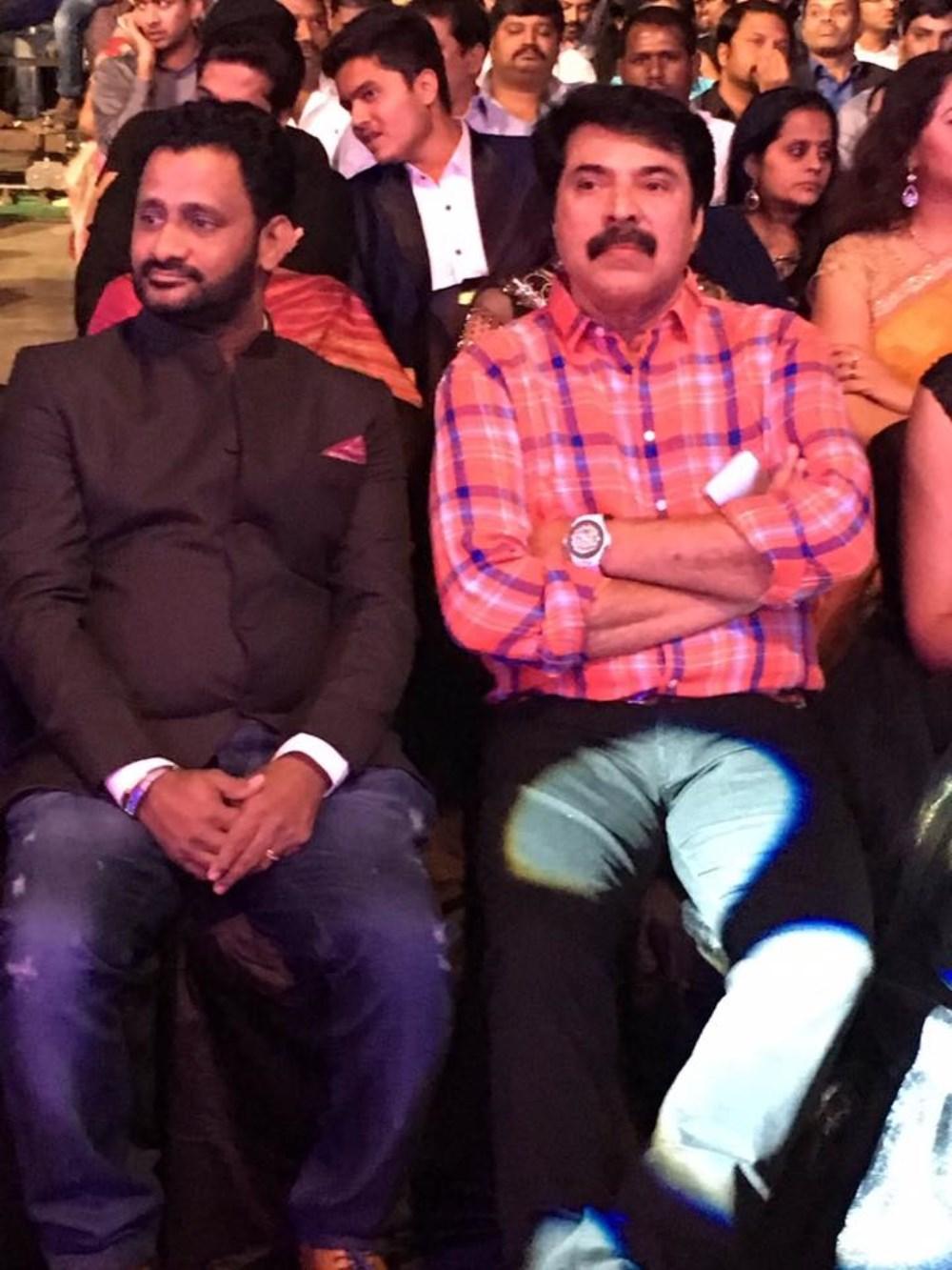 Mammootty, Resul Pookutty @ 63rd Britannia Filmfare Awards South 2016 Stills
