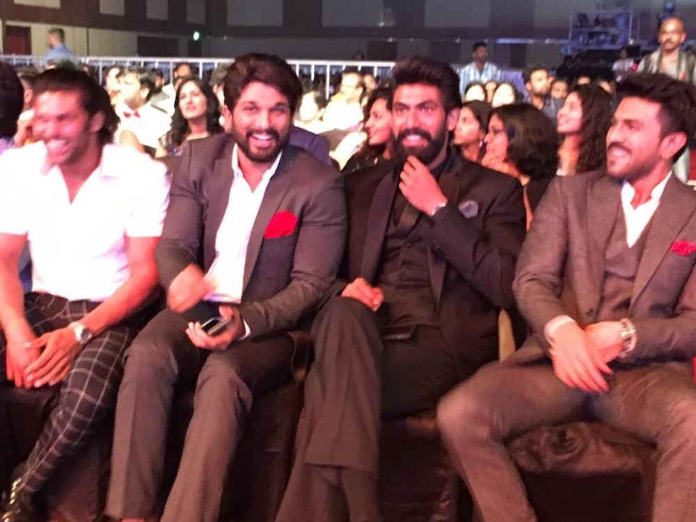 Arya, Allu Arjun, Rana, Ram Charan @ 63rd Britannia Filmfare Awards South 2016 Stills