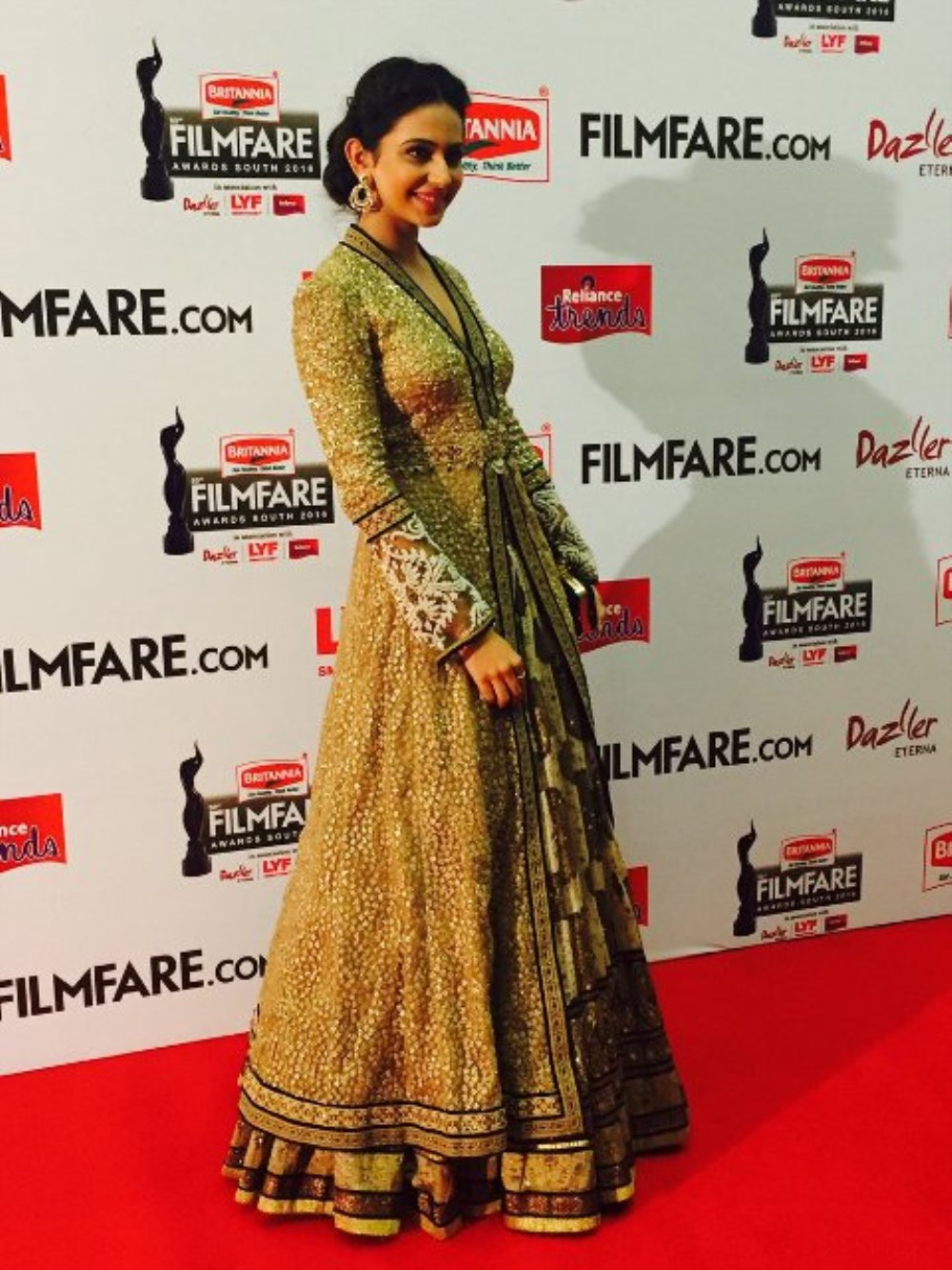 Rakul Preet Singh @ 63rd Britannia Filmfare Awards South 2016 Stills
