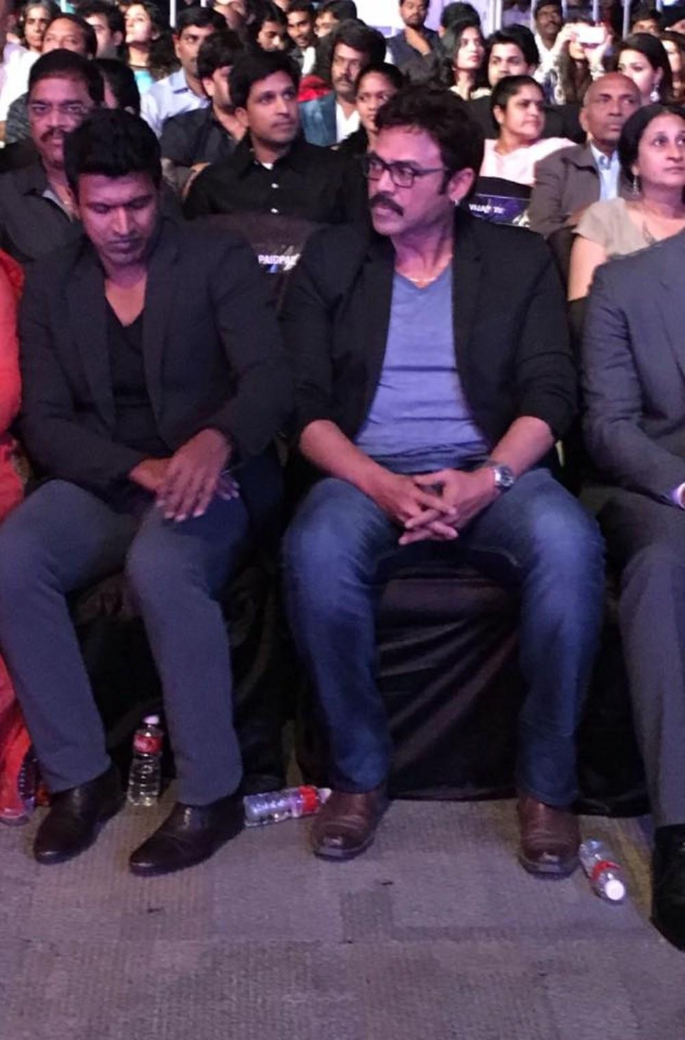Puneeth Rajkumar, Venkatesh @ 63rd Britannia Filmfare Awards South 2016 Stills
