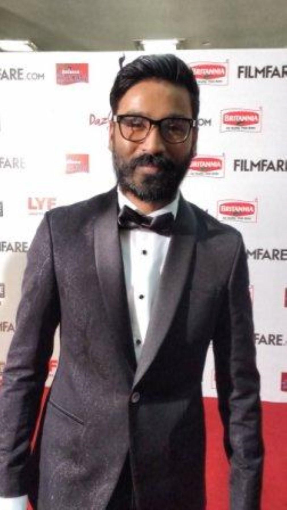 Actor Dhanush @ 63rd Britannia Filmfare Awards South 2016 Stills