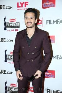 Akhil Akkineni @ 63rd Filmfare Awards South 2016 Red Carpet Stills
