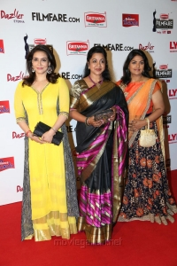 Lissy, Radhika, Nirosha @ 63rd Filmfare Awards South 2016 Red Carpet Stills