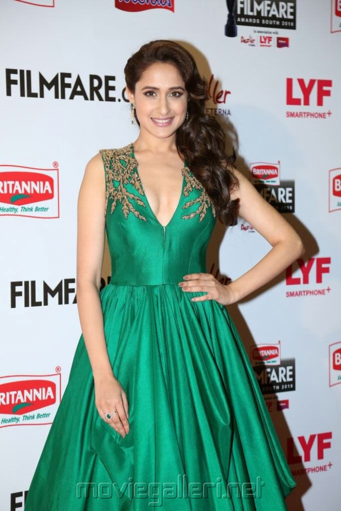 Actress Pragya Jaiswal @ 63rd Filmfare Awards South 2016 Red Carpet Stills