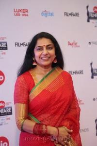 Actess Suhasini Maniratnam @ 64th Jio Filmfare Awards South 2017 Event Images