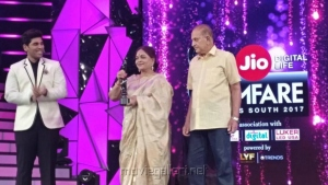 Allu Sirish, Vijaya Nirmala, Krishna @ 64th Jio Filmfare Awards South 2017 Event Images