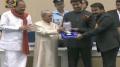 Actor Mohanlal receive Special Jury Award for Munthirivallikal Thalirkkumbol, Janatha Garage & Pulimurugan @ 64th National Film Awards 2016 Photos