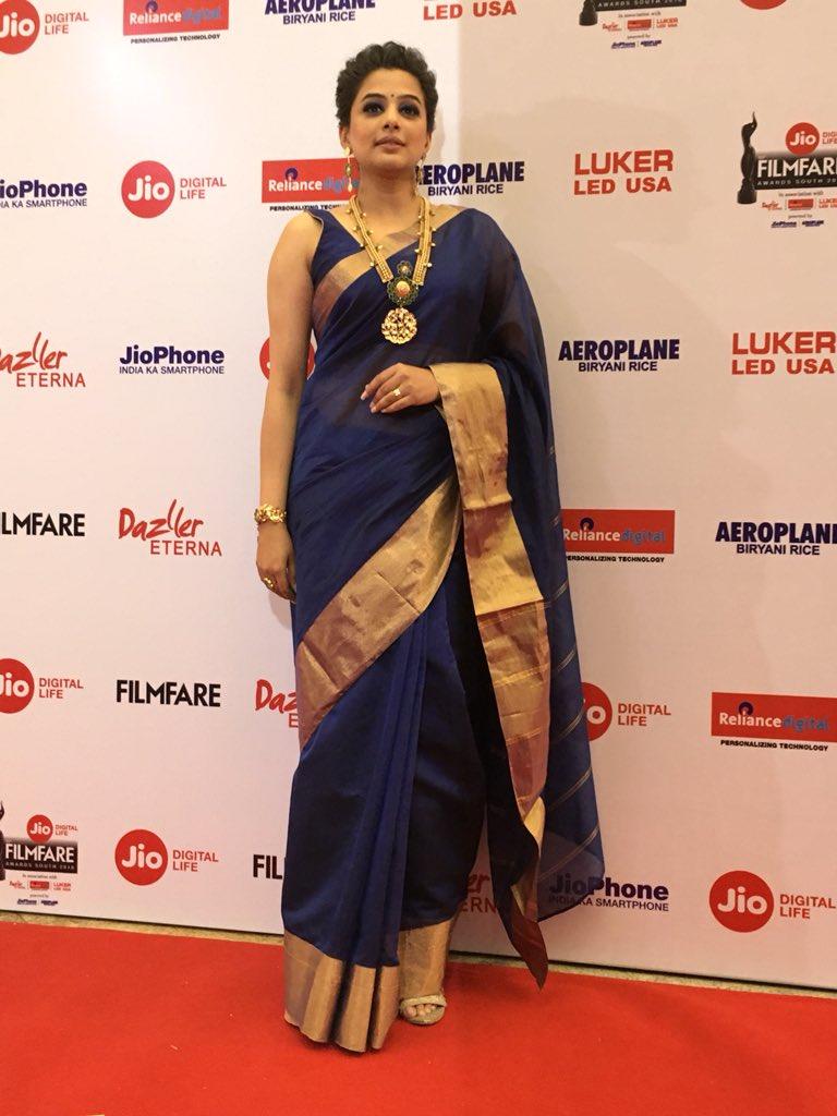 Actress Priyamani @ 65th Jio Filmfare Awards South Red Carpet Stills