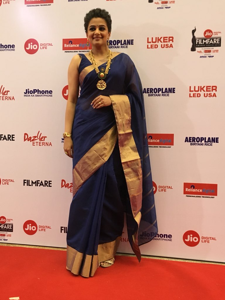Actress Priyamani @ 65th Jio Filmfare Awards South Red Carpet Stills