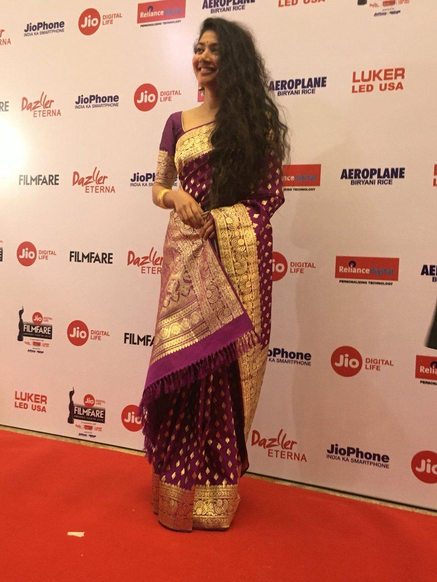 Sai Pallavi @ 65th Jio Filmfare Awards South Red Carpet Stills