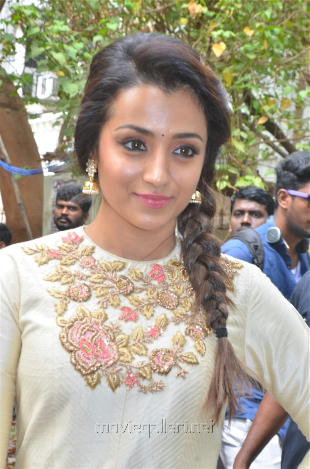 Actress Trisha @ 96 Movie Pooja Stills