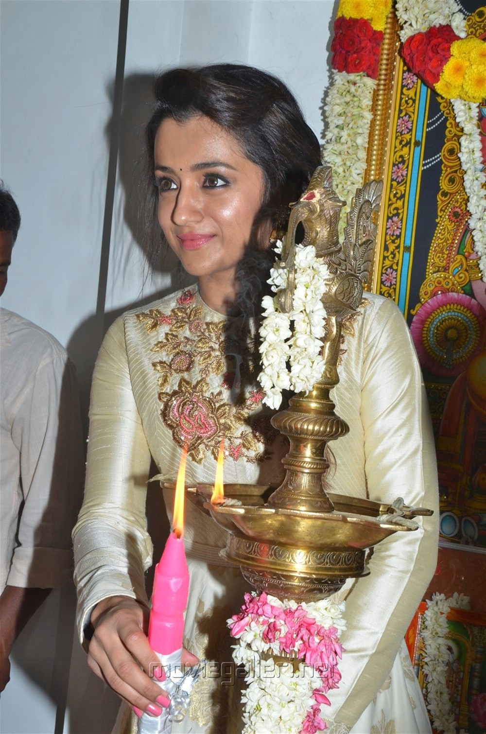 Actress Trisha @ 96 Movie Pooja Stills