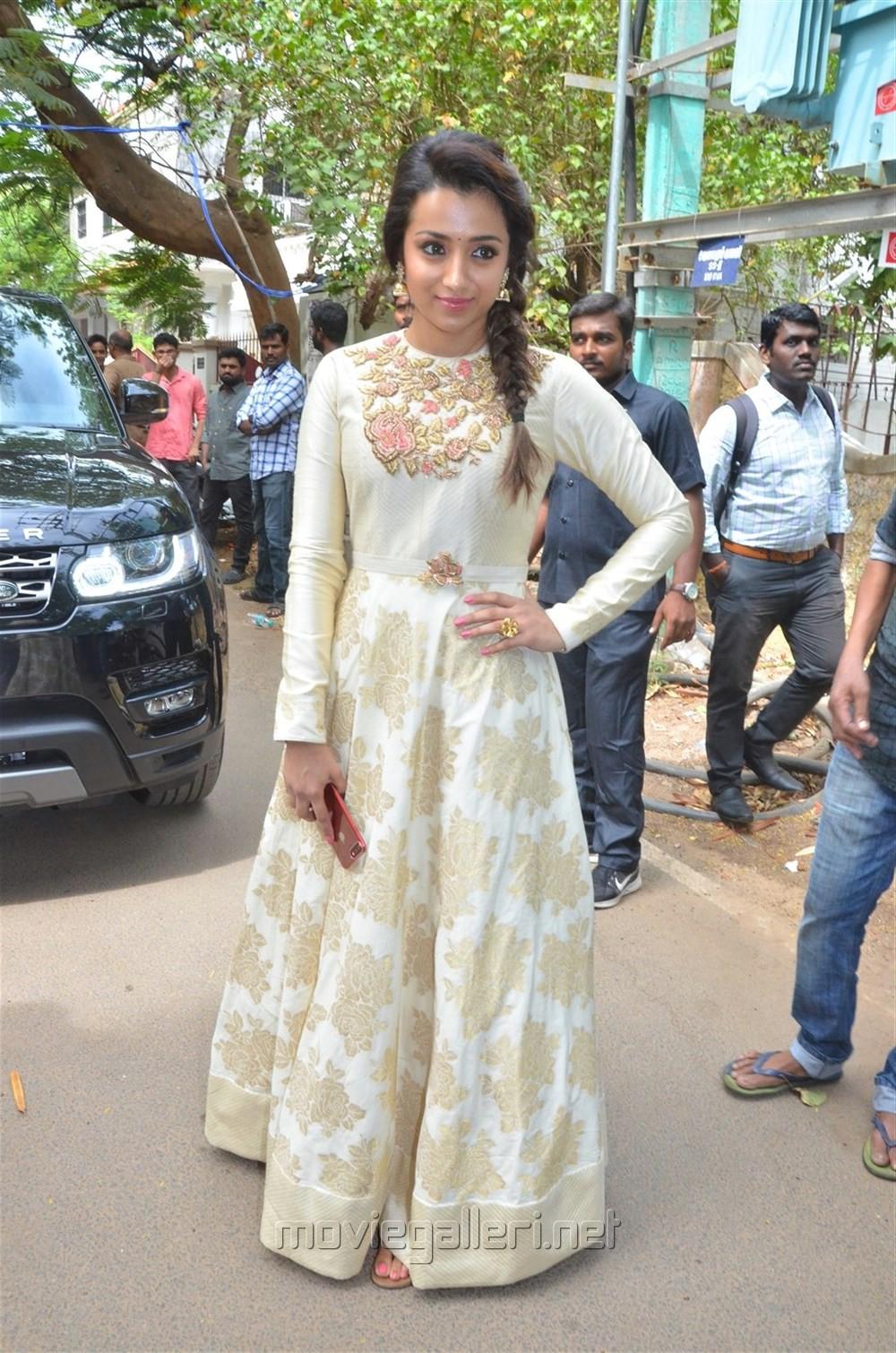 Actress Trisha Krishnan @ 96 Movie Pooja Stills