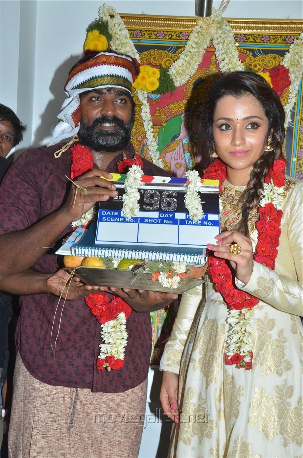 Vijay Sethupathi, Trisha @ 96 Movie Pooja Stills