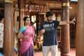 Anupama Parameshwaran, Trivikram Srinivas @ A Aa Movie Working Stills