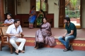 Vijaya Naresh, Nadhiya, Trivikram Srinivas @ A Aa Movie Working Stills