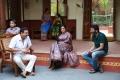 Vijaya Naresh, Nadhiya, Trivikram Srinivas @ A Aa Movie Working Stills