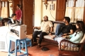 Nithin, S Radhakrishna, Trivikram Srinivas, Samantha @ A Aa Movie Working Stills