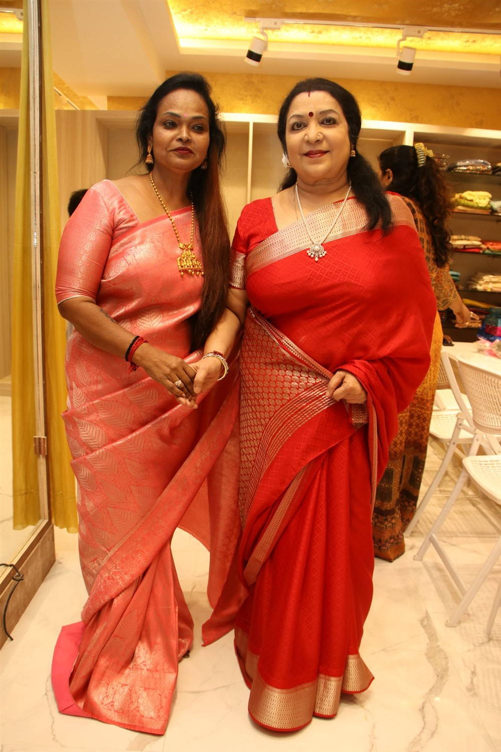 Kala, Latha @ AA Guru Silks Launch Photos