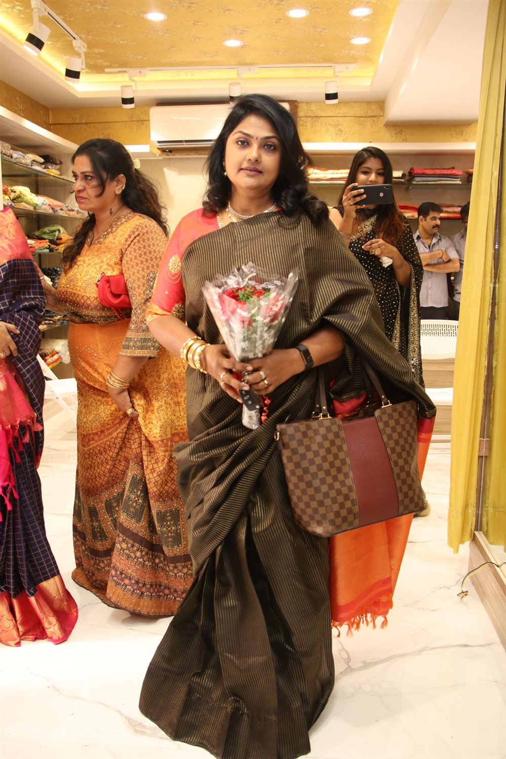Actress Nirosha @ AA Guru Silks Launch Photos